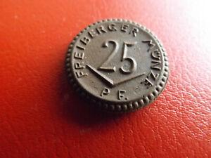 * Freiberger Münze 25 Pfennig Notgeld Porzellan 1921(145)(schub65)