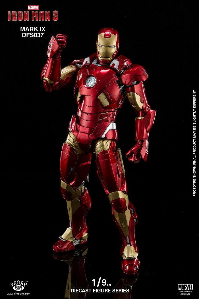 1 9 Scale King Arts DFS037 Diecast Alloy Mark9 Iron Man KA Action Figure ABS