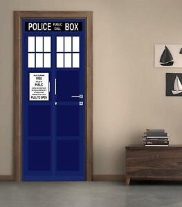 Image Is Loading Tardis Police Call Box DOOR WRAP Decal Wall