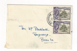 1958-Arorae-Gilbert-amp-Ellice-Islands-1d-Pair-QEII-to-Beru-Island