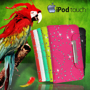 Glitter-Wallet-Flip-Leather-BLING-Fancy-Case-Cover-For-iPod-Touch-6-6-th-Gen-SG