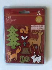 Badger /& Hedgehog dies Fox All THREE Docrafts layered die sets Woodland Folk