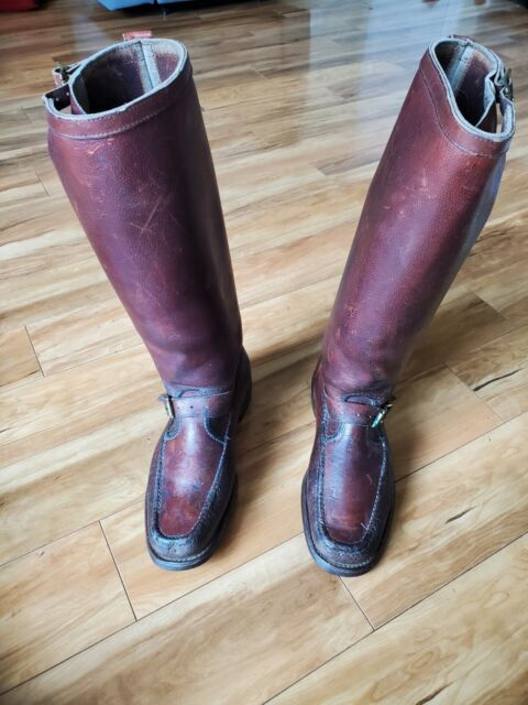 VTG GOKEY Botte Sauvage Bull-Hide engineer Snake Boots. Size 10