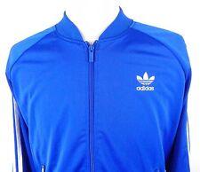 Adidas XL Track Jacket Trefoil Firebird 3 Stripes Royal Blue White Retro Style