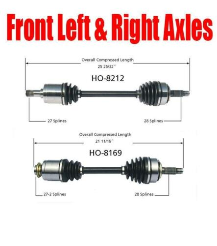 Brand New Front Left and Right Axles for Acura TSX 2004-2008 2.4L All Models