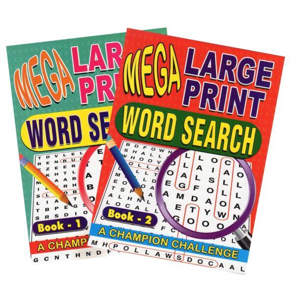 2x Mega Large Print Adult Word Search Books Over 250 Puzzles Trivia Amusant Soyez Amical Lors De L'Utilisation