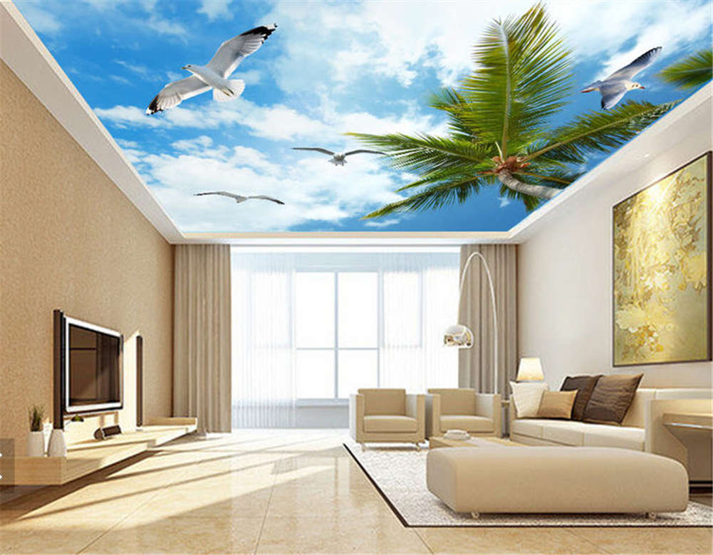 Tactful Mazy Swallow 3D Ceiling Mural Full Wall Photo Photo Photo Wallpaper Print Home Decor 974558