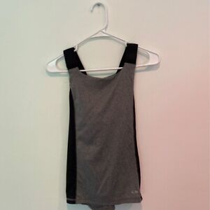C9-By-Champion-DuoDry-Womens-Active-Tank-Top-Gray-Heathered-Criss-Cross-Back-XS