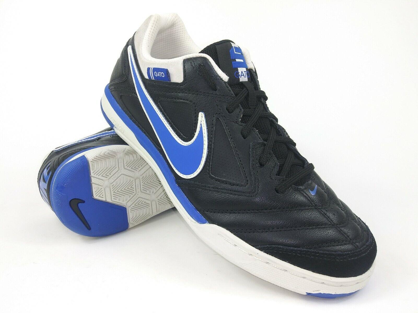 Nike Hombre Raro Nike 5 Gato Ltr 415123-041 Negro Azul Calzado de Fútbol Indoor Talla 7