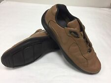PRADA marrone MORBIDA PELLE ITALIANA MEN'S Scarpe Da Ginnastica UK 10 US 11 EU 44