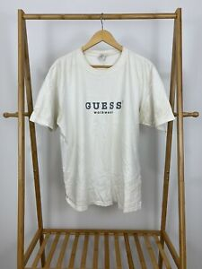 VTG-90s-Guess-USA-Workwear-Spellout-Classic-Short-Sleeve-T-Shirt-Size-XL