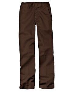 Intelligent Dickies Back To School Uniform Flat Front Acajou/pantalon Marron Taille 4-20 Neuf Avec étiquettes-afficher Le Titre D'origine