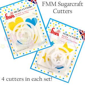 FMM-Sugarcraft-Cutters-Sets-of-4-Hearts-or-Stars-Cake-Decorating-Sugarpaste