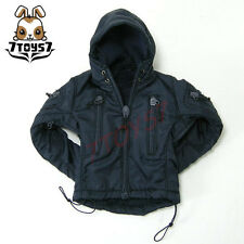 Wild Toys 1/6 Adventure & Tactical_ Blue Jacket_Stealth Hoodie Jacket Now WT011K