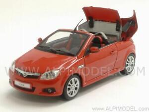 Opel Tigra Twintop 2004 Magma Rouge au 1/43 Minichamps 400043131