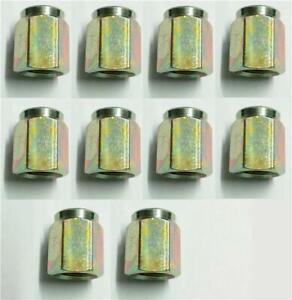 10-x-Female-Brake-Union-Nuts-Metric-Steel-Pipe-Tubing-10-x-1-0mm-Joiner