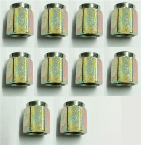 10 x Female Brake Union Nuts Metric Steel Pipe Tubing 10 x 1.0mm Joiner