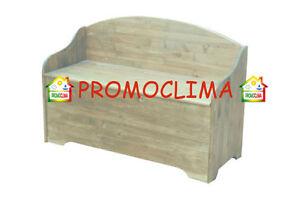 Panca Contenitore Legno : Cassapanca legno baule panca contenitore 100x40x40 70h cm ebay