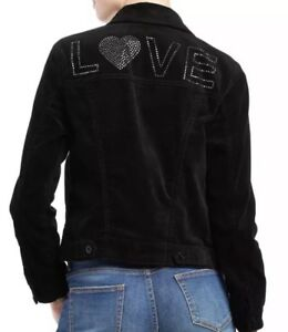 NWT-Women-039-s-EV1-Ellen-Degeneres-Love-Black-Velvet-Jacket-Size-Large