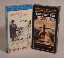 2 VHS Videos : The Hunt For Red Subs - Underwater Warfare & Battle Of Britain