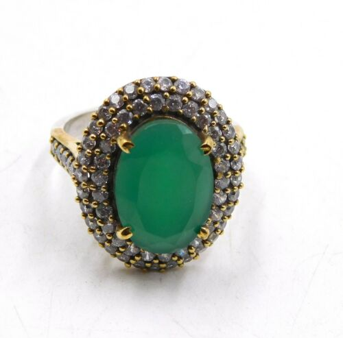 Details about  /925 Sterling Silver 4 Pcs Hydro Multy Cut Two Tone Rings Loose Gemstones M-498