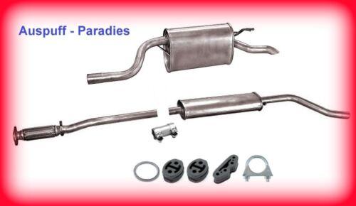 Anbausatz Auspuffanlage Abgasanlage Auspuff für Fiat Punto II 1.2 80PS