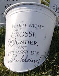 Shabby wasserf.Aufkleber Möbeltattoo Leben Wunder Koffer,Schrank,f Milchkanne?