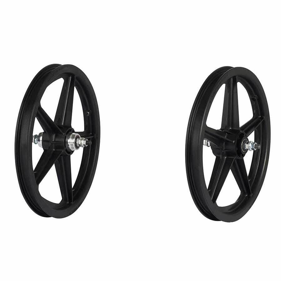 Skyway Tuff II wheel set 16X1.75  3 8  nutted FW 5 Spk Bk