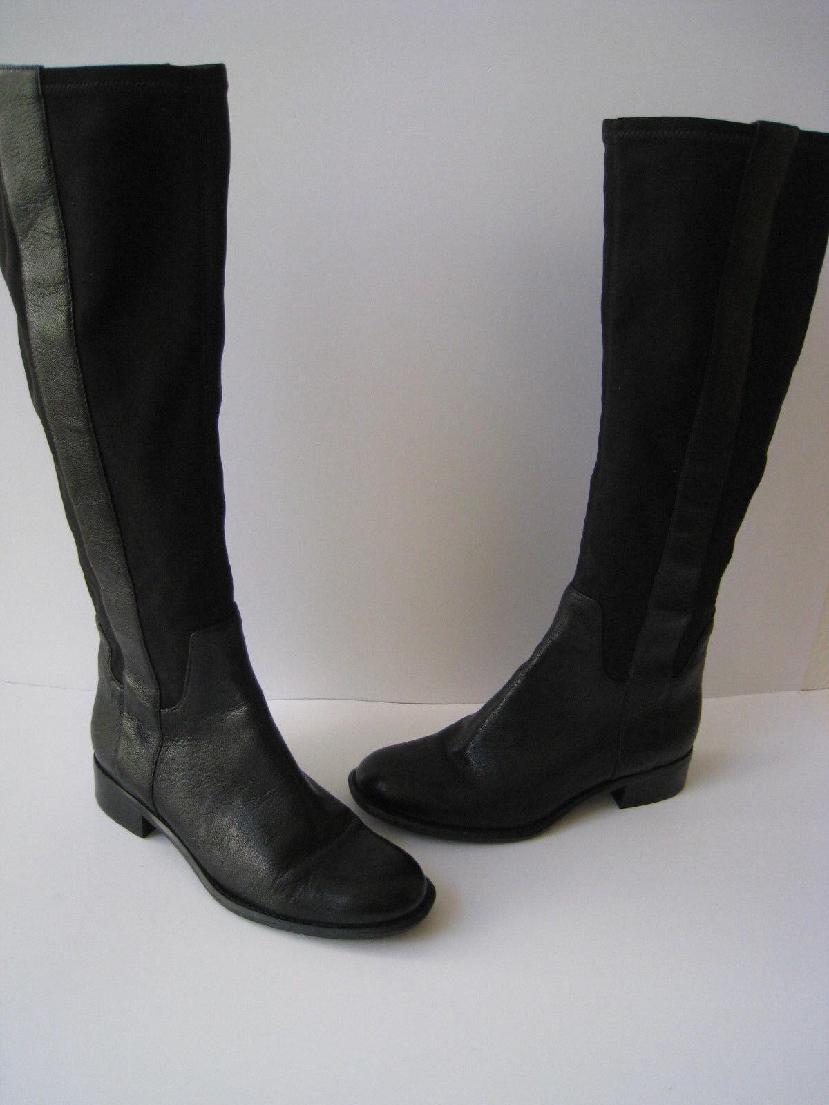NINE WEST KNEE HI DRESS ELASTIC BLACK BLACK BLACK LEATHER Stiefel 1 1/4