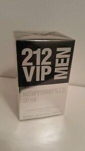8da073b54f CAROLINA HERRERA 212 VIP MEN NEW YORK PILLS 20ML EDT NEW SEALED FREE ...