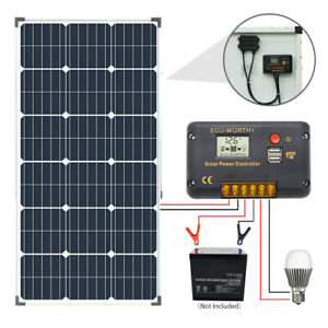 Boat and Any Flat Surface ECO-WORTHY Adjustable Solar Panel Mount Brackets,Tilt Mount Rack for Roof RV