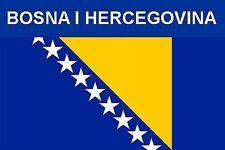 FLAG FRIDGE MAGNET - BOSNIA & HERZEGOVINA