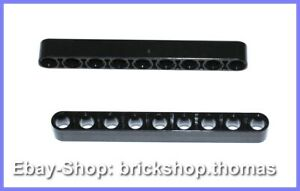 Lego-Technic-Liftarm-schwarz-Lochbalken-1-x-9-breit-40490-Black-NEU-NEW