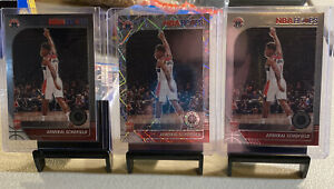 3-19-20 Hoops Premium Stock Admiral Schofield RC's Lazer/Base Lot Wizards