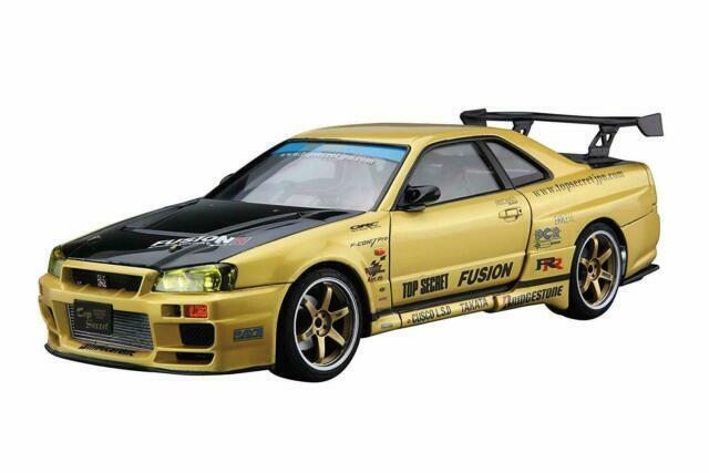 Aoshima 1//24 The Tuned Car No.15 Nissan top secret BNR34 Skyline GT-R 2002
