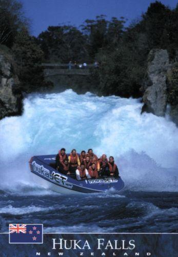 Waikato Neuseeland Postkarte Huka Falls Jetboat