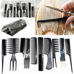 10pcsfessional-Hair-Styling-Comb-Set-Black-Hairdressing-Brush-Salon-Barbers