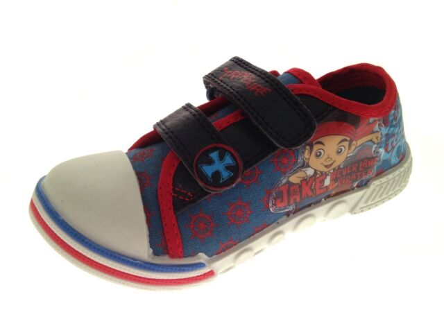 Jake and the Neverland Pirates Treasure Canvas Pumps Blue/Red GC66091