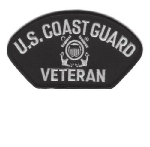 """NEW 5x3/"""" IRON-ON COAST GUARD VETERAN MILITARY EMBROIDERED PATCH U.S"""