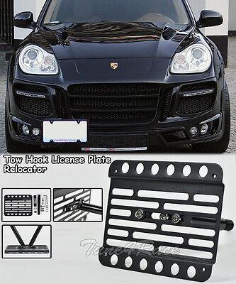 Fit 02-06 Porsche 955 Cayenne Tow Hook Mount License Plate Relocator Bracket