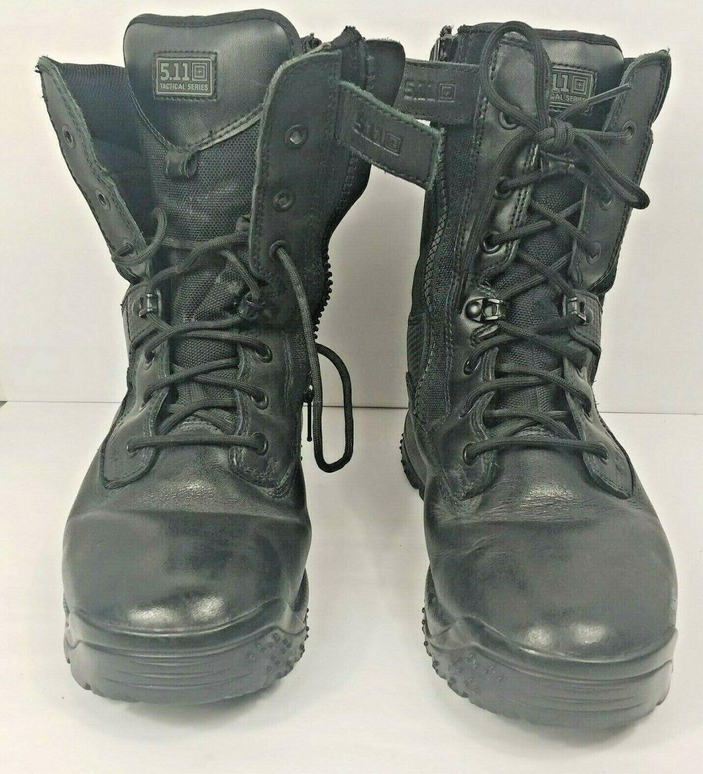 5.11 botas tácticas de hombre negro ATAC Escudo Projoector del dedo del pie 8  Cremallera Lateral