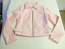 Hannah Montana Girl's Pretty Pink Non Leather Jacket Size 8/10 Excellent Shape