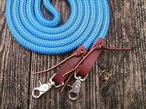 10/' Royal Blue Horse Lead Rope USA Made FREE SHPG! Heavy Duty Zinc Snap