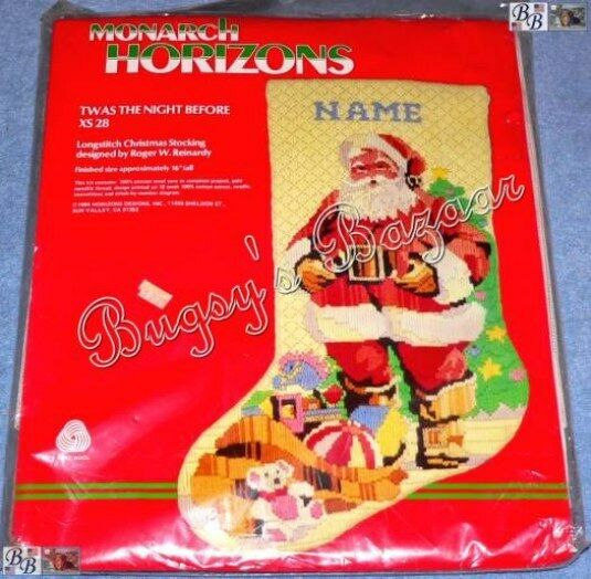 TWAS THE NIGHT BEFORE Longstitch Needlepoint Christmas Stocking Kit -R. Reinardy