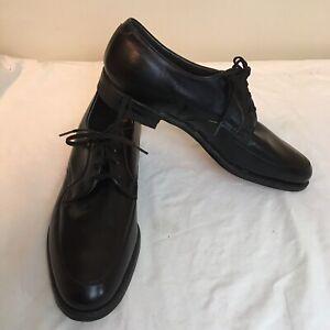 Mason-Mens-Shoes-Black-Leather-Oxfords-Velvet-Eez-9-5-R-9-5R-Free-Shipping