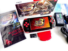 Boxed PSP 3000 Black Red Console Monhun Rookies Hunters Limited Model w Charger