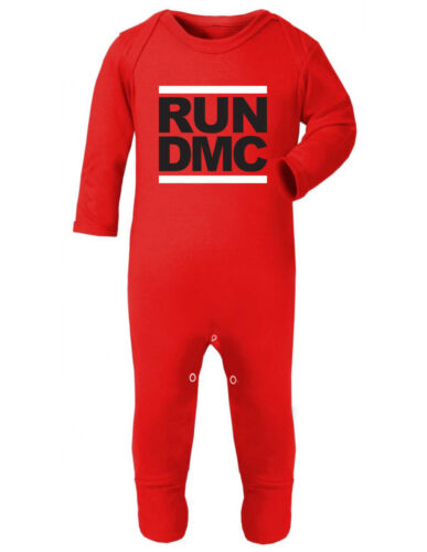 RUN DMC Logo Rap Symbol Hip Hop Old Skool Baby Schlafanzug Strampler