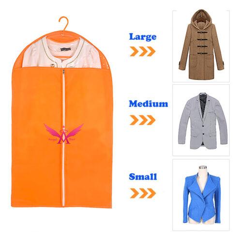 Vêtement Sac à vêtements suspendus robuste Placard Stockage Housse robe orange