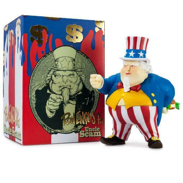 Uncle Scam Red White & bluee Medium Art Figure by Ron English x Kidrobot