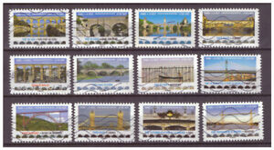 Serie-Puentes-de-Francia-sellos-adhesivos-2017